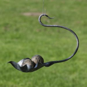 Small Leaf Seed Feeder by Ian Gill Sculpture