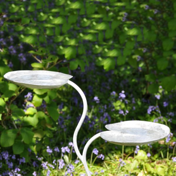 Double Lily Pad Bird Bath by Ian Gill Sculpture