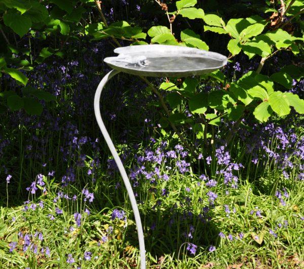 Frog Lily pad garden bird bath