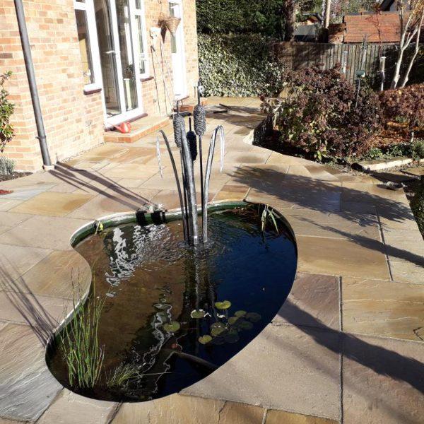 Bulrush Water Sculpture
