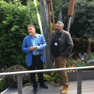 Ian Gill Sculpture with Raymond Blanc