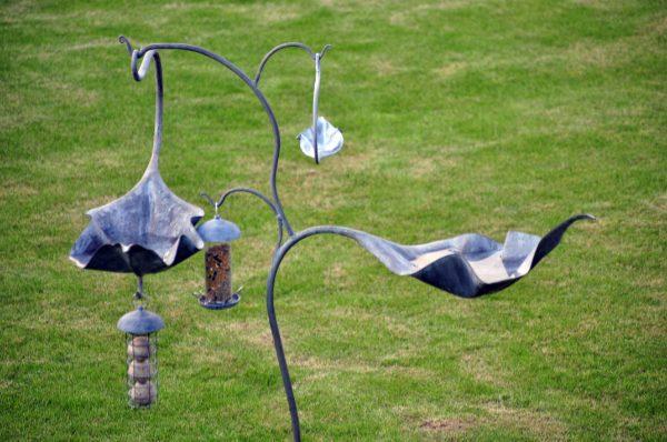 Metal Bird Baths and Feeders