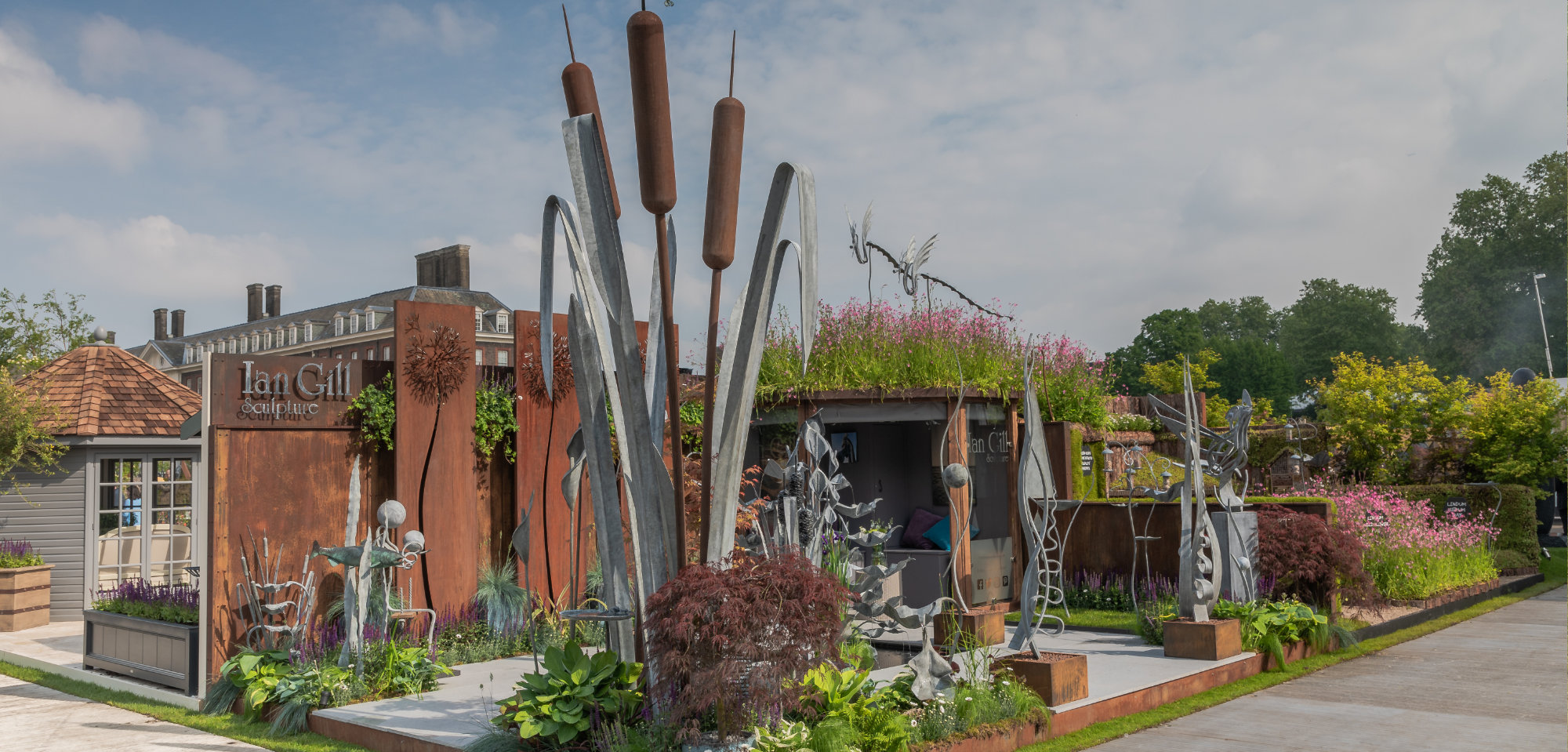 Ian Gill Sculpture display at Chelsea Flower Show