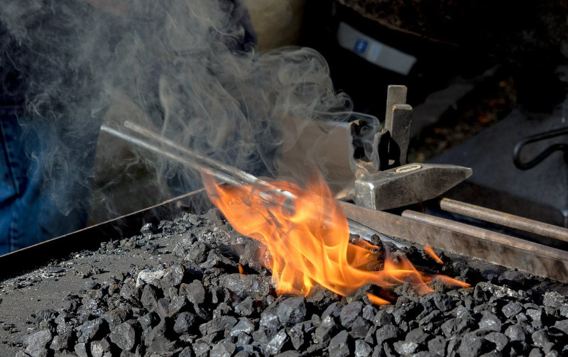 Ian Gill Sculpture - Artistic Backsmith - Forge