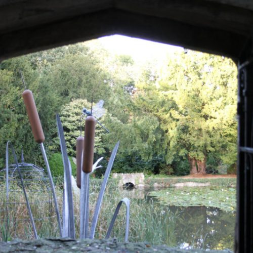 Giant Dragonfly & Bulrush Sculpture at Le Manoir