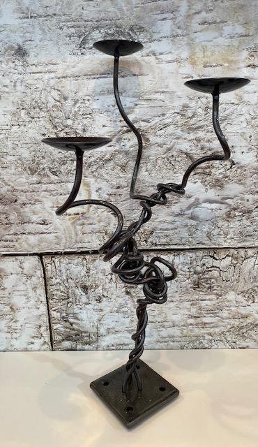 3 Tier Twist Candlestick by Ian Gill Sculpture